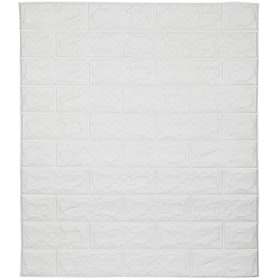 Luxurious Wallpaper Foam Brick - White