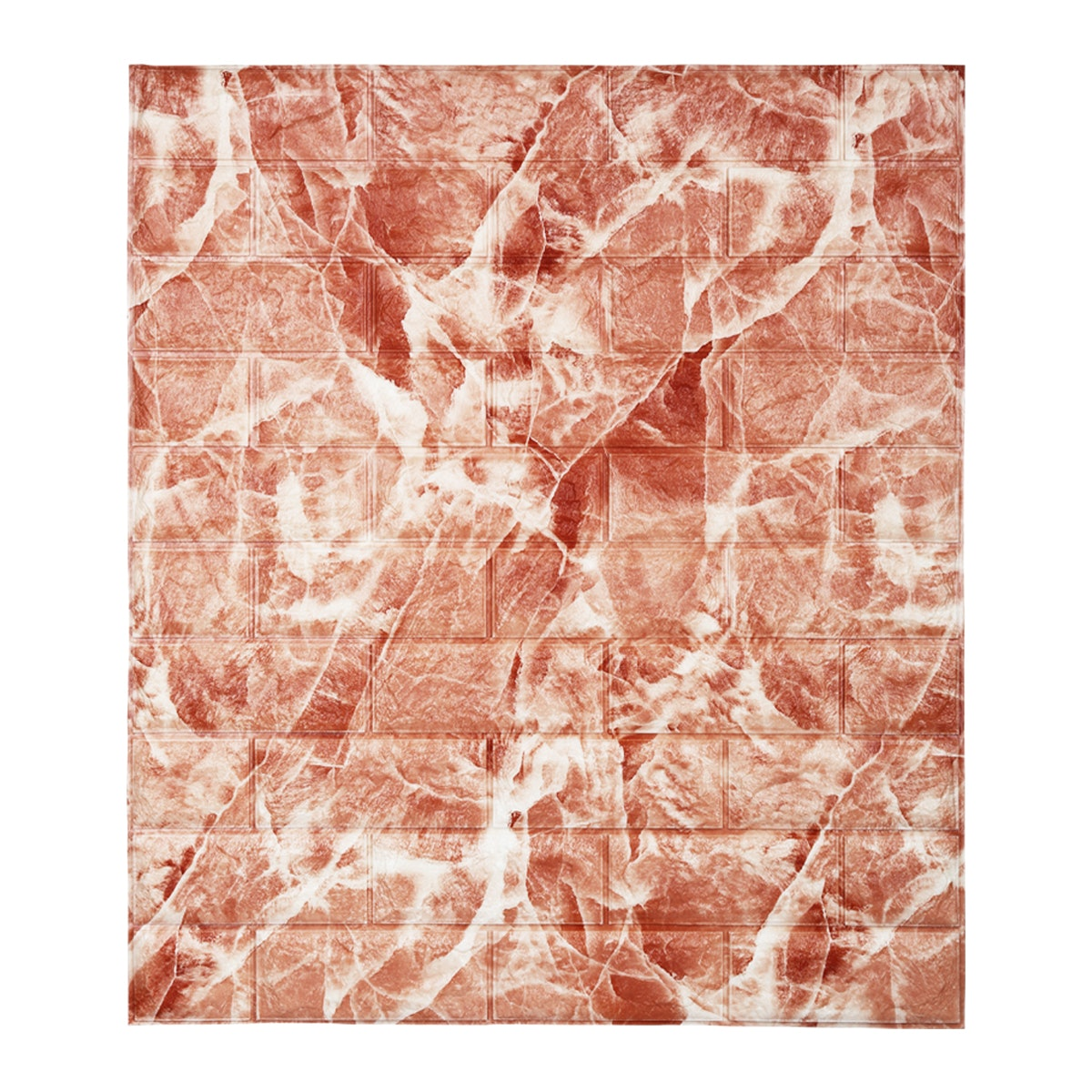 Luxurious Wallpaper Foam Brick - Red Marble