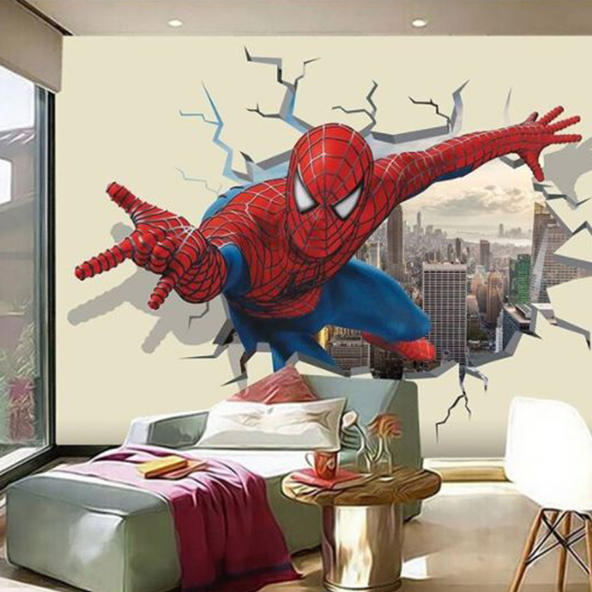 Luxurious Wallpaper Custom 3D Motif Spiderman 1