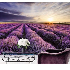 Luxurious Wallpaper Custom 3D - Motif Lavender 1
