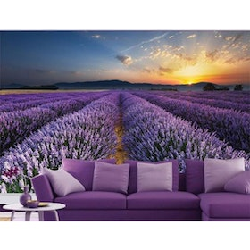 Luxurious Wallpaper Custom 3D - Motif Lavender 2