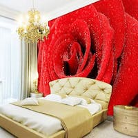 Luxurious Wallpaper Custom 3D - Motif Rose