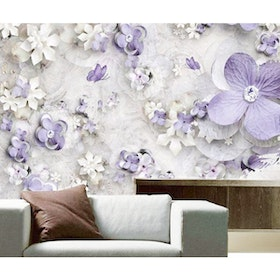 Luxurious Wallpaper Custom 3D - Motif Bunga 8