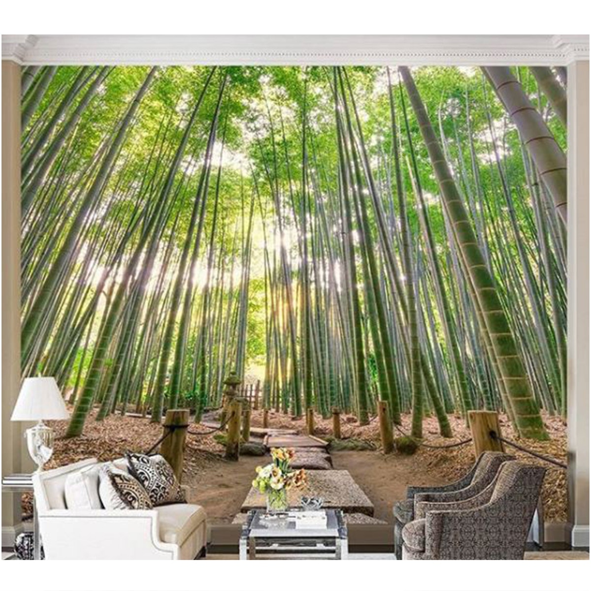Luxurious Wallpaper Custom 3D - Motif Forest 1