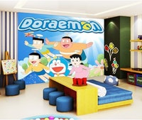 Luxurious Wallpaper Custom 3D - Motif Doraemon 1
