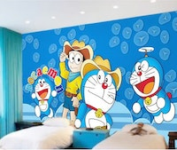 Luxurious Wallpaper Custom 3D - Motif Doraemon 3