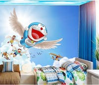 Luxurious Wallpaper Custom 3D - Motif Doraemon 5