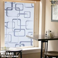 Luxurious Sandblast/Window Sticker | Uk 45cm x 10 meter | WS 10-03 - Motif Kotak