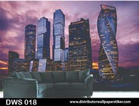 DWS 3D Wallpaper Custom - Motif City | DWS 018