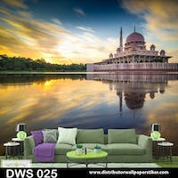 DWS 3D Wallpaper Custom - Motif Islami | DWS 025