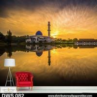 DWS 3D Wallpaper Custom - Motif Islami | DWS 082