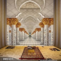 DWS 3D Wallpaper Custom - Motif Islami | DWS 0215