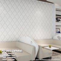 Luxurious Wallpaper Foam Diamond - White
