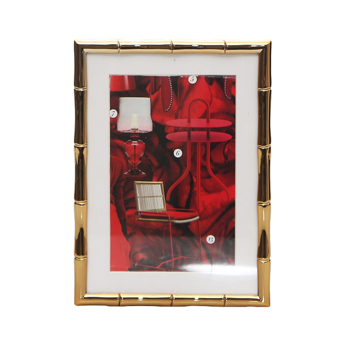 Vivere Photo Frame Std Bamboo Gold 4x6 Inch