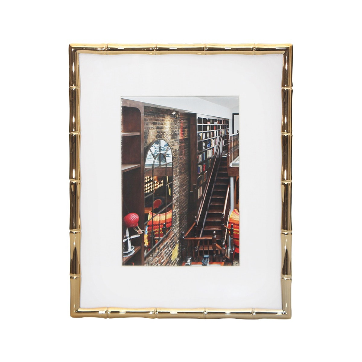 VIVERE Photo Frame Std Bamboo Gold 5 x 7 Inch