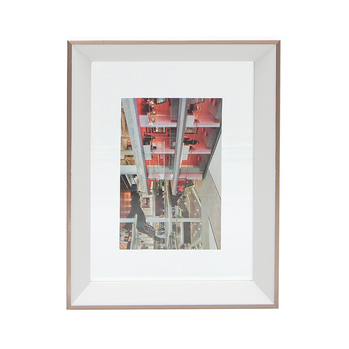 Vivere Photo Frame Std Mixed Floating White 4x6 Inch
