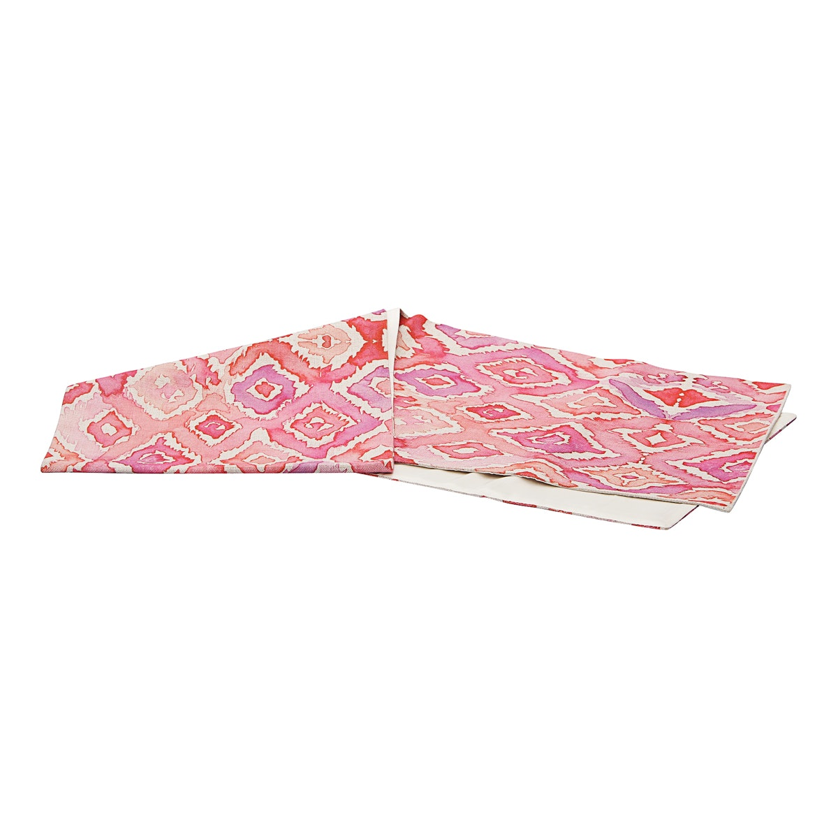 VIVERE Table Runner Oriental Checker Pink 160 x 33 cm