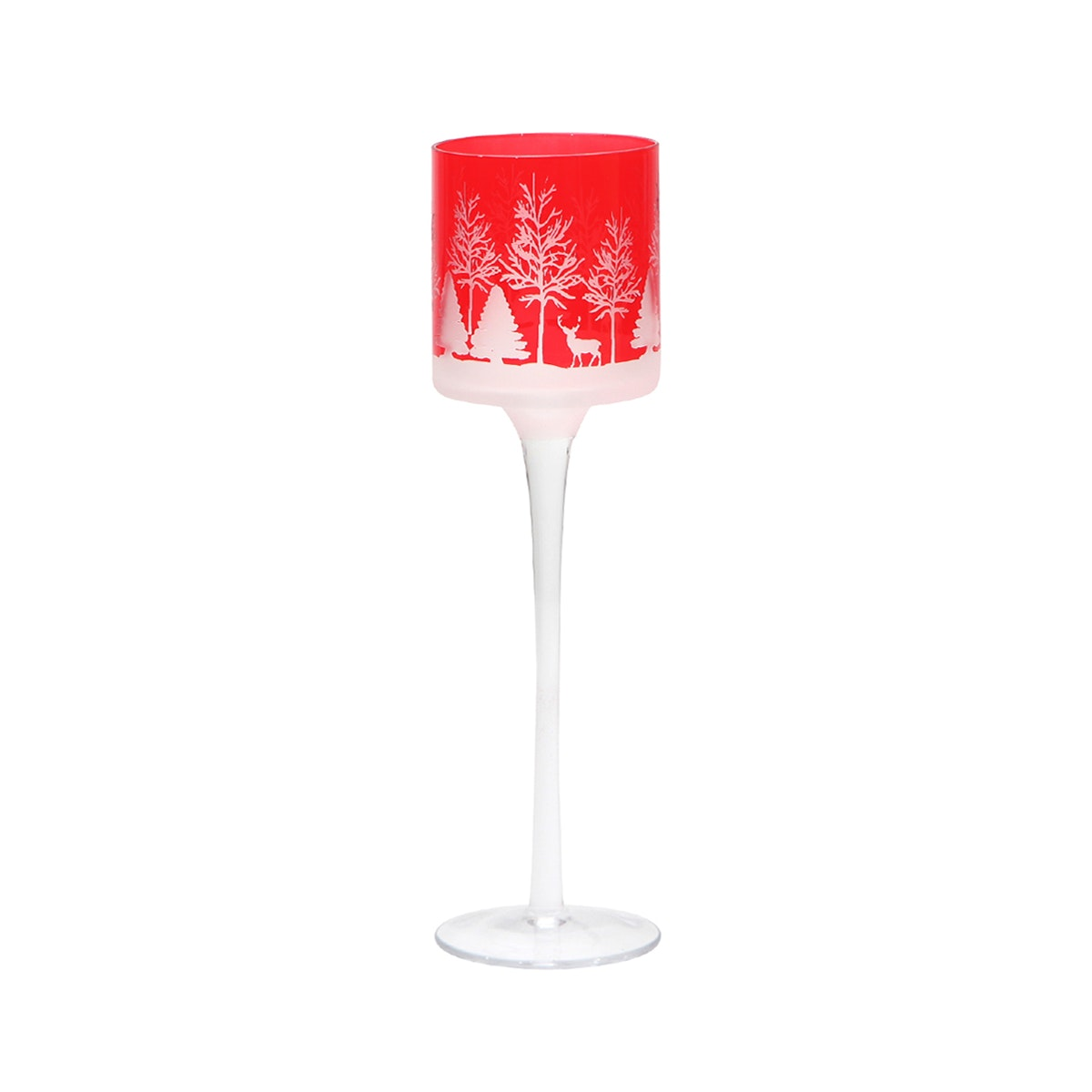Vivere Hurricane Candle Holder cmas Red 7x25 cm