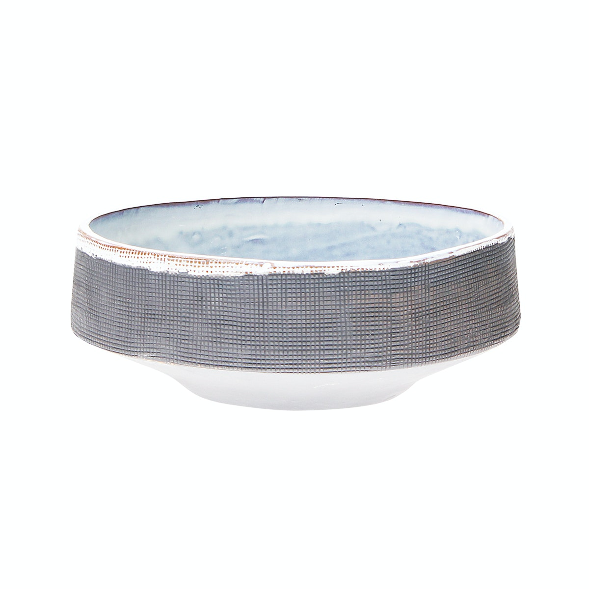 VIVERE DECO BOWL NIPON SCRATCH 28X9,5CM Grey