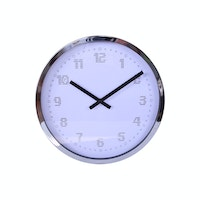 Vivere Wall Clock Dots Chrome 38cm