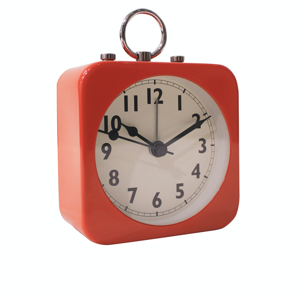 Vivere Desk Clock Vienna Red 8.5cm