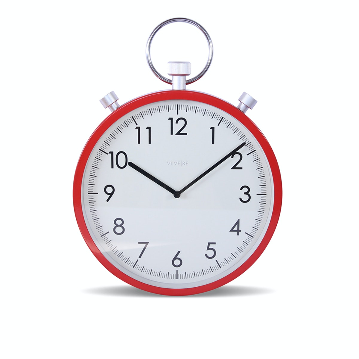 Vivere Wall Clock Stopwatch Red 30.5cm