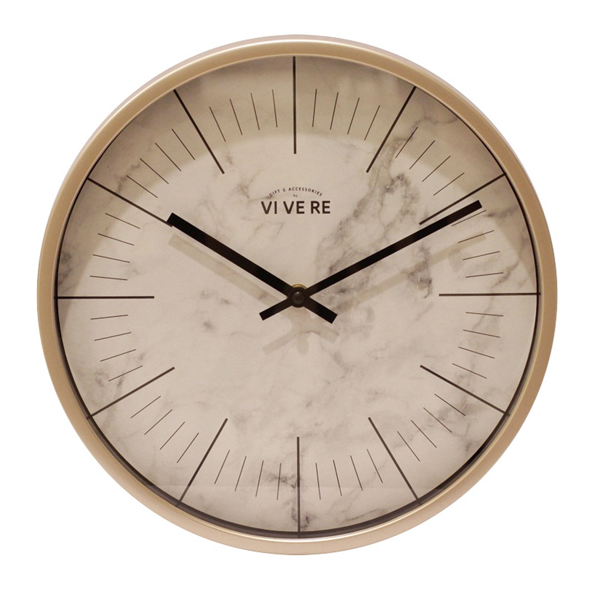 Vivere Wall Clock Marble Gold