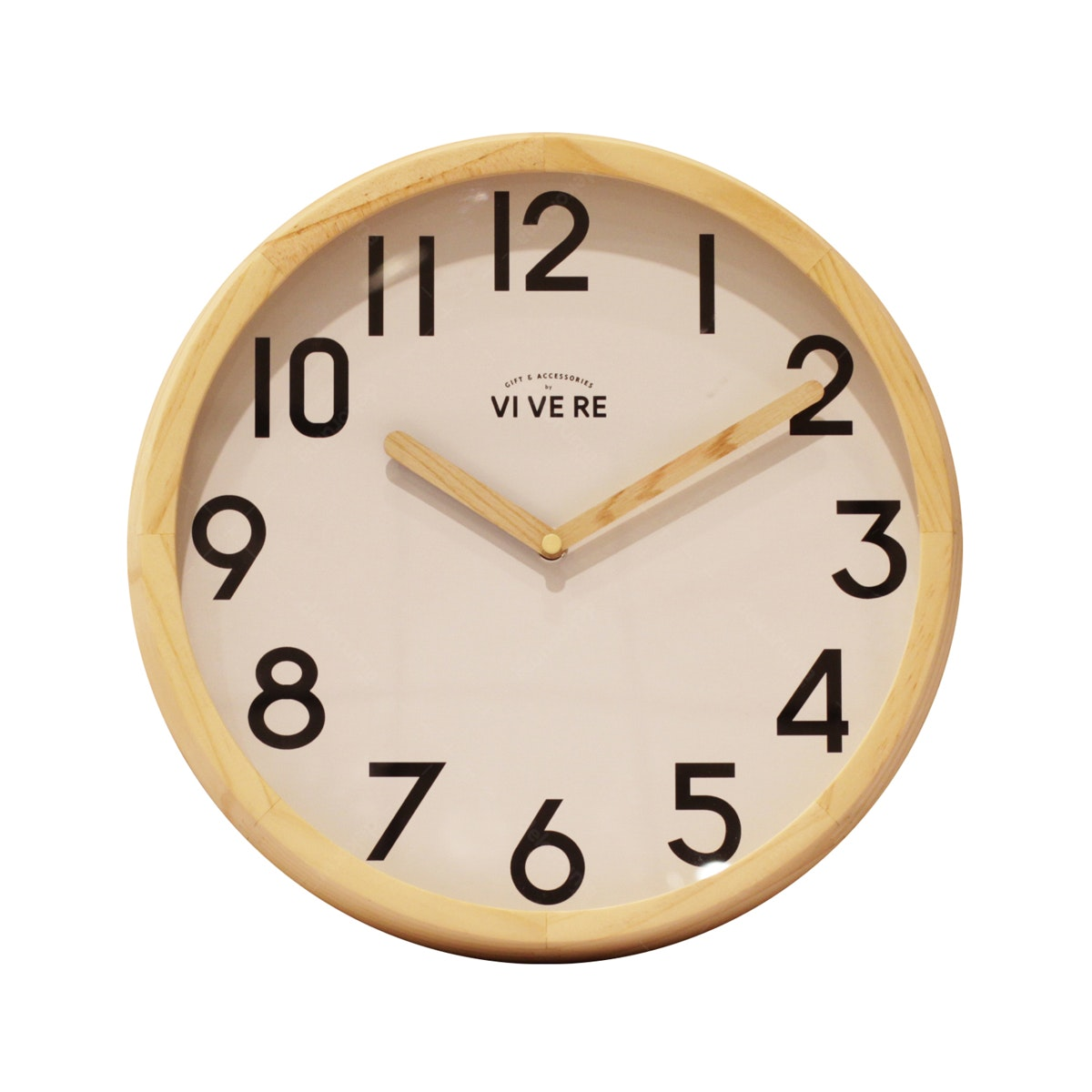 Vivere Wall Clock Birch Natural