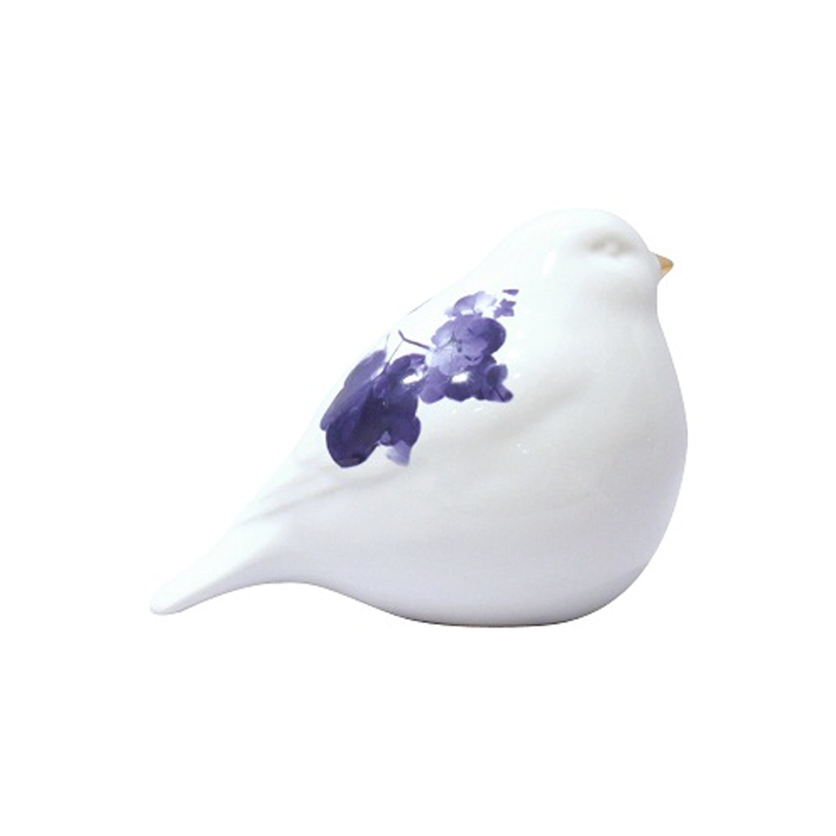 Vivere Object Deco Birdy Flower White Blue 13cm