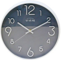 Vivere Wall Clock Modern White Black