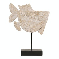 Vivere Object Deco Fish W/Stand Whicre 22x27cm
