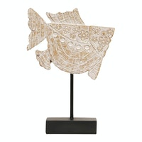 Vivere Object Deco Fish W/Stand Whicre 18x24cm
