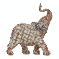 Vivere Object Deco Elephant Ethnic Red 16x19cm