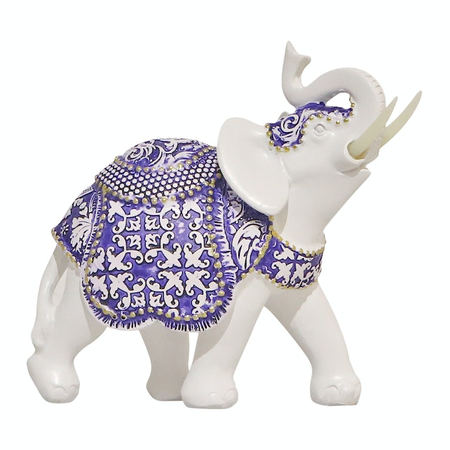Vivere Object Deco Elephant Tusk Small Blu