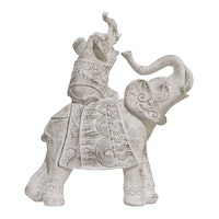 Vivere Object Deco Duo Elephant Ethnic Whi