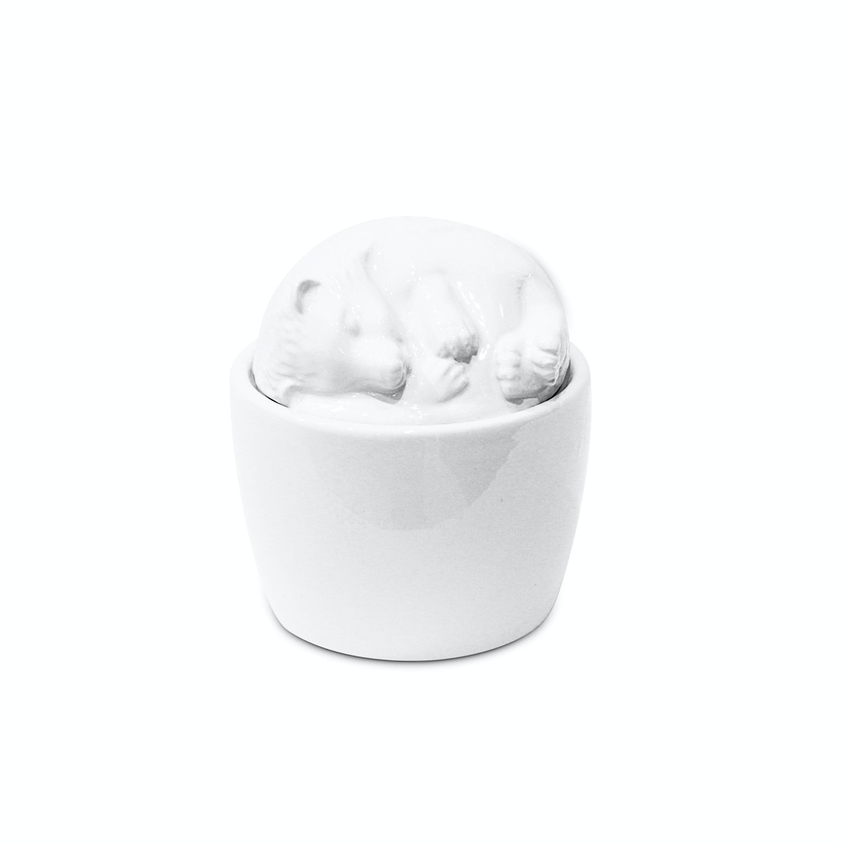 Vivere Bowl Sleeping Hedgehog White
