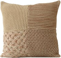 VIVERE Cushion Cover Rectang Knit Pink White 45X45Cm
