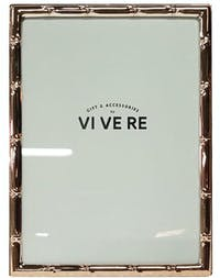 VIVERE Photo Frame Std Bamboo Rose Gold 5X7Inch