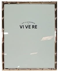 VIVERE Photo Frame Std Bamboo Rose Gold 8X10Inch