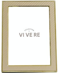 VIVERE Photo Frame Std Small Box Gold 5X7Inch