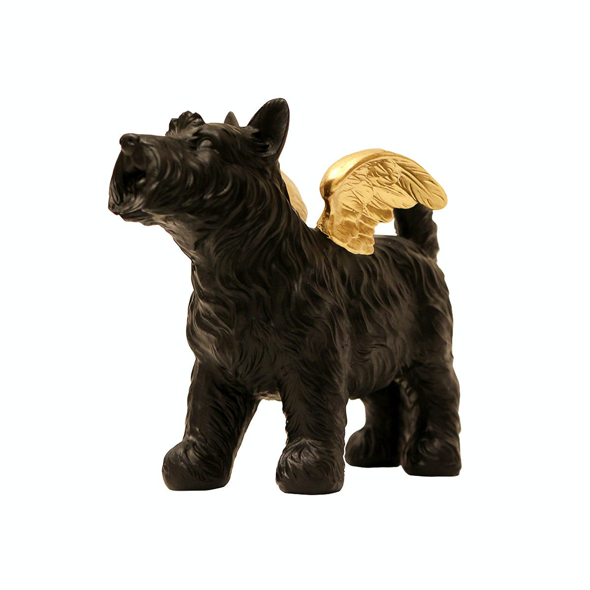 Vivere Object Deco Doggy Wing Black Gold