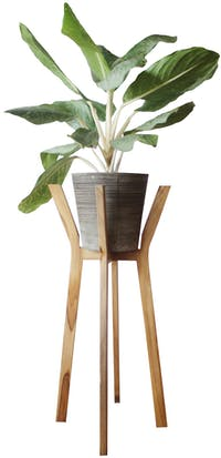 Viku Furniture Standing pot with solid wood