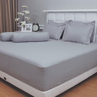 Vallery Quincy Set Sprei Jacquard - Light Gray 180x200x30cm
