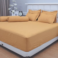 Vallery Quincy Set Sprei Jacquard - Golden 160x200x30cm