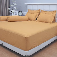 Vallery Quincy Set Sprei Jacquard - Golden 180x200x30cm