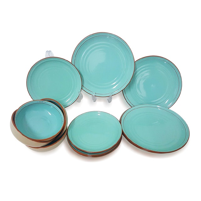 Vz Tiffany Blue Dinner Set