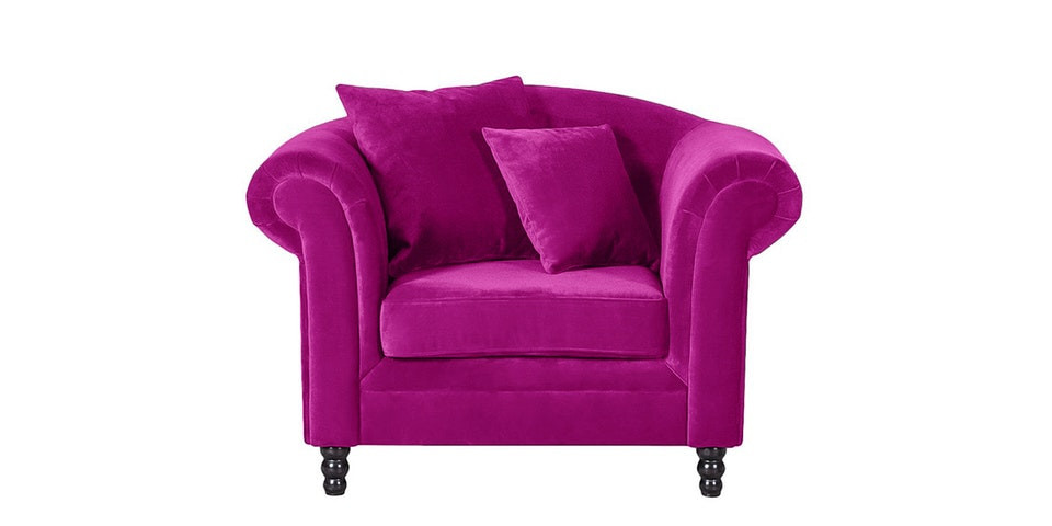 Voda Collection Henry Sofa 1 Dudukan Ungu Mulberry