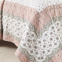 Vintage Story Bedcover Country Royal Patchwork B02