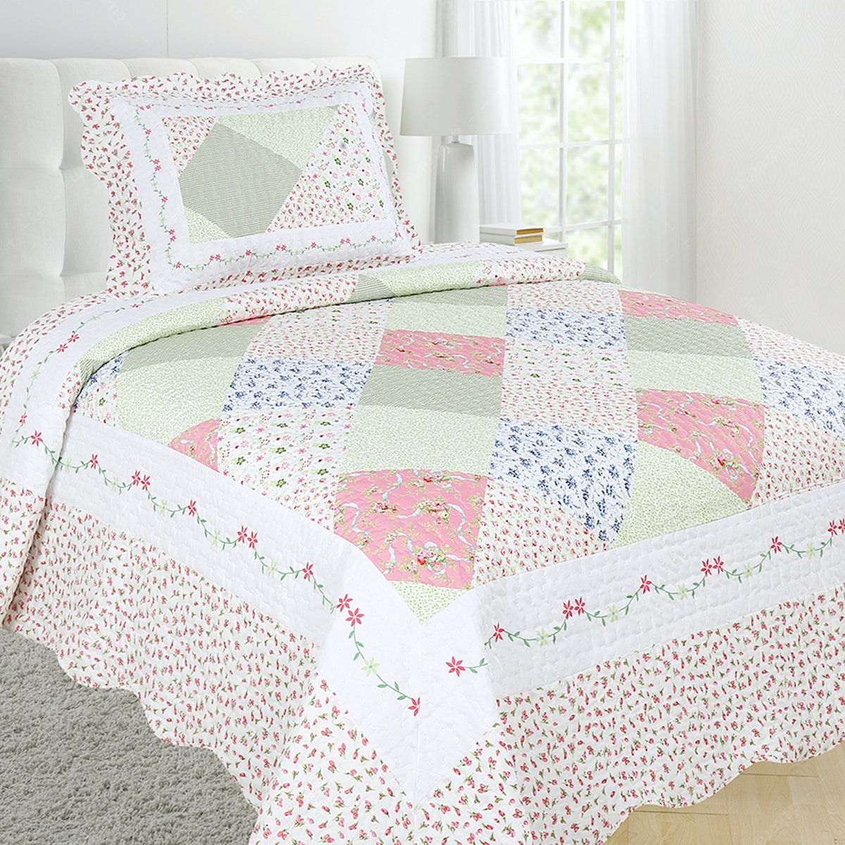 Vintage Story Shabby Bedcover 150X200 P1B