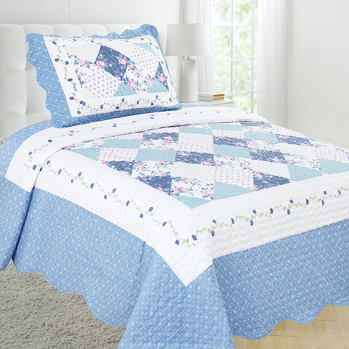 Vintage Story Shabby Bedcover 150X200 P1G